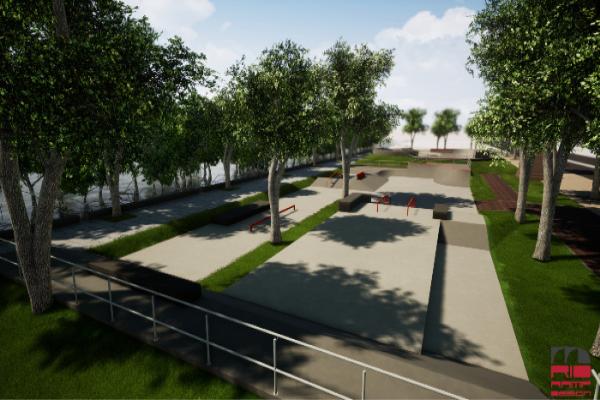 Começa construção de um parque de skate na Rua da